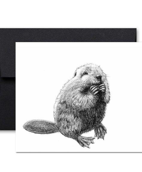 Le Nid Greeting Card - Beaver