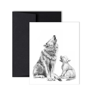Le Nid Greeting Card - Wolf mom