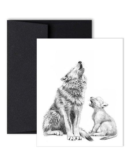 Le Nid Carte de souhait - Maman Loup