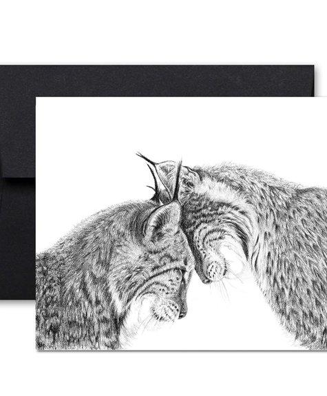 Le Nid Greeting Card - Lynx
