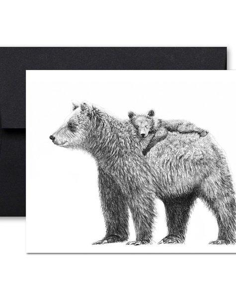Le Nid Carte de souhaits - Maman ours