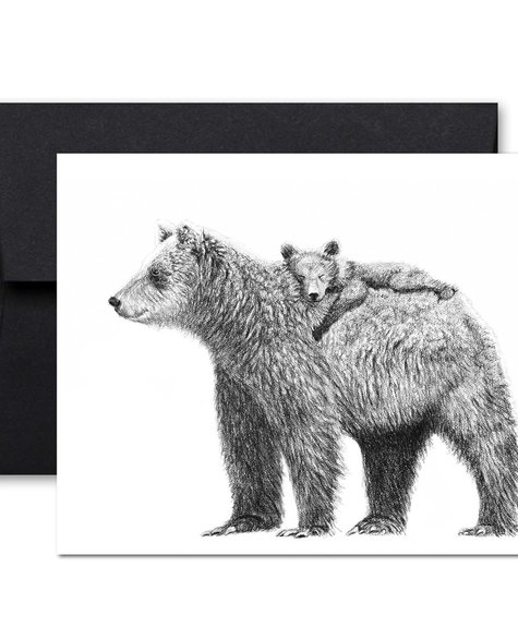 Le Nid Greeting Card - Bear mom