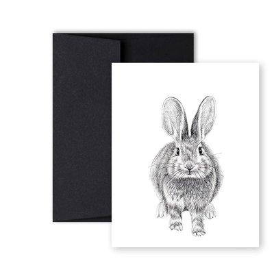 Le Nid Greeting Card - Rabbit Duo