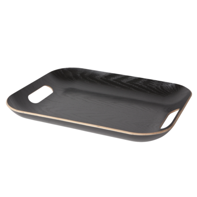 Danica Serving Tray - Black willow