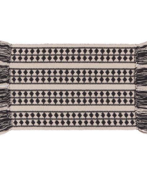 Danica Napperon en coton tissé - Echo noir