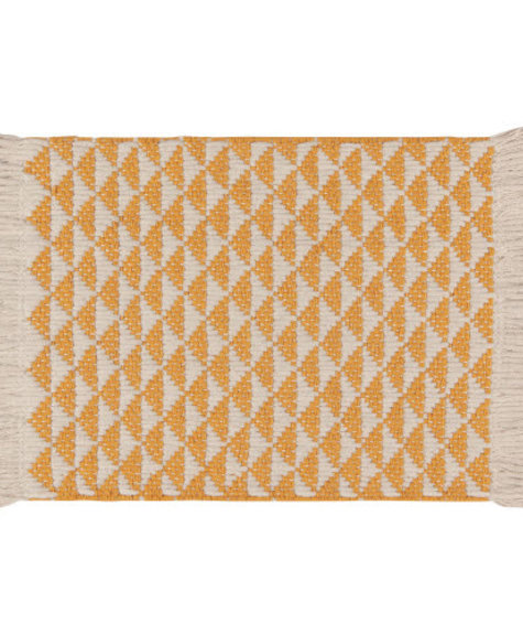 Danica Cotton Braided Place mat - Ochre Heirloom