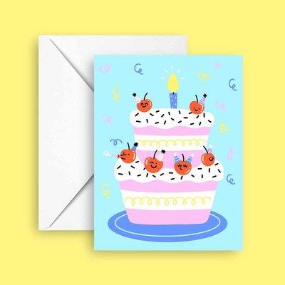Club Pastel Greeting card - Cherries on top