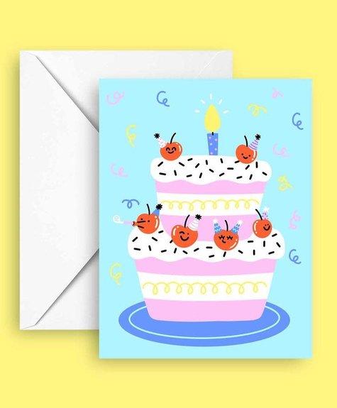 Club Pastel Carte de souhaits - Cerises