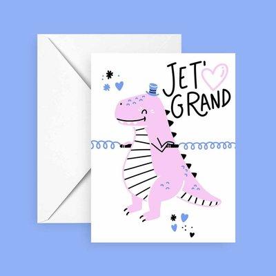 Club Pastel Greeting card - T-Rex