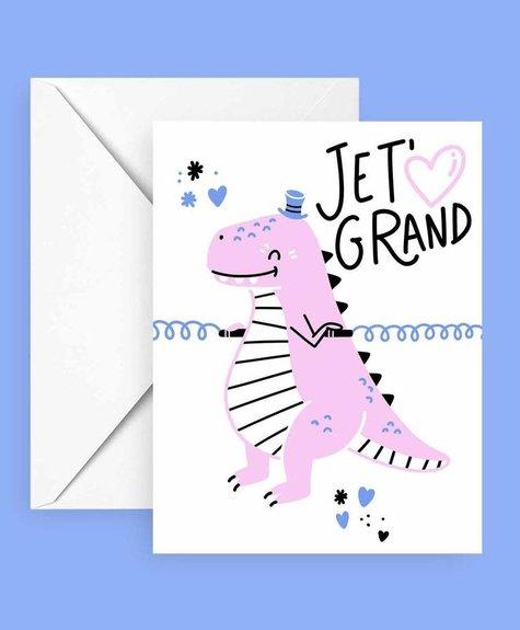 Club Pastel Carte de souhaits - T-Rex d'amour