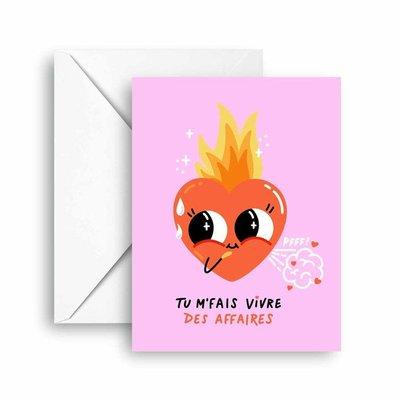 Club Pastel Greeting card - Warm love