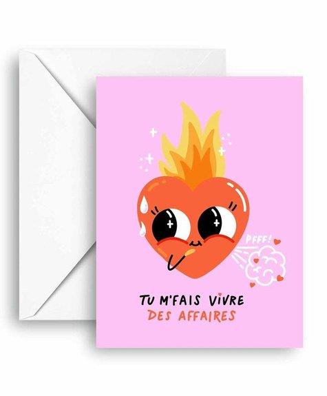 Club Pastel Carte de souhaits - Chaud au coeur