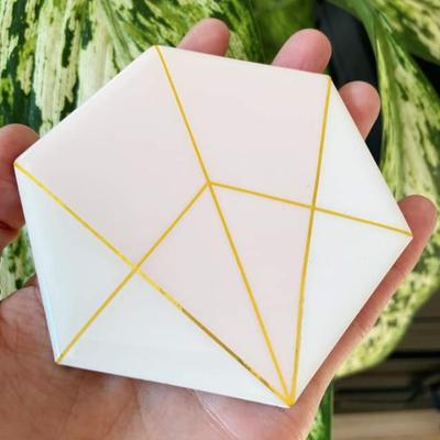 Collage Sous-verres Hexagones