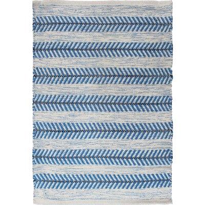 Avocado Decor Tapis coton - Arrow bleu - 2x3