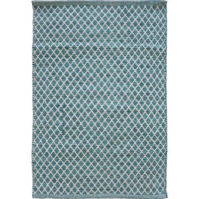 Avocado Decor Cotton rug - Maywood aqua - 2x3