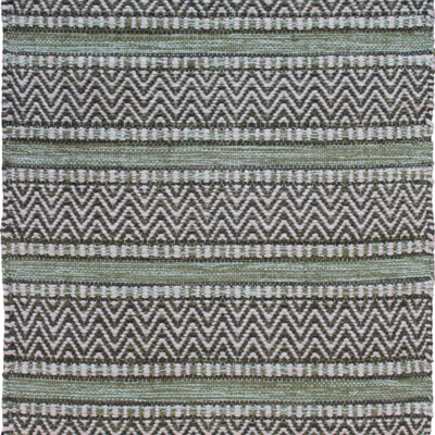 Avocado Decor Tapis coton - Largo vert - 2x3