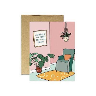 Party Mountain Paper Carte de souhaits - Cozy New Home
