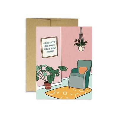 Party Mountain Paper Greeting card - Cozy New Home