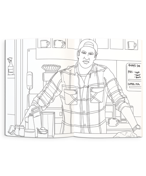 Party Mountain Paper Coloring Book - Gilmore Girls