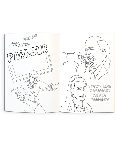 Party Mountain Paper Coloring Book - The Office