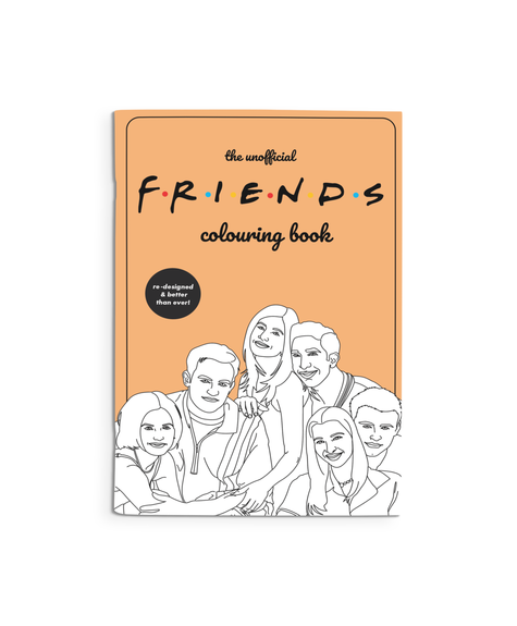 Party Mountain Paper Coloring Book - Friends