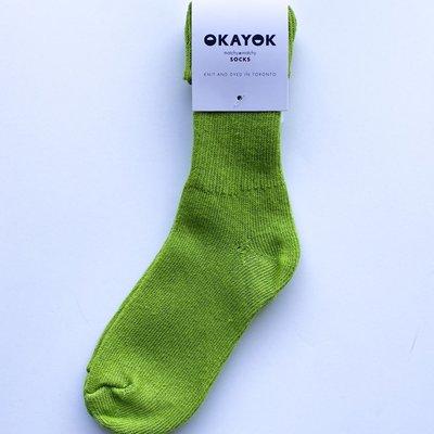 OKAYOK Socks Okay - Lime Green