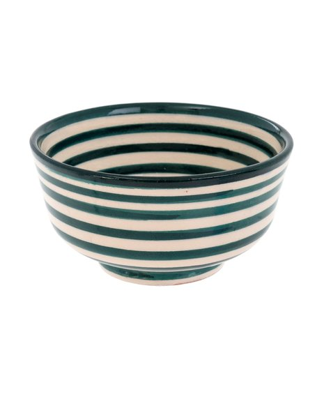 Indaba Moroccan Striped Bowl -  Teal
