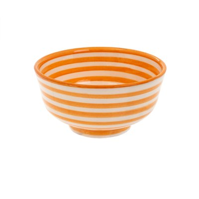 Indaba Moroccan Striped Bowl - Saffron