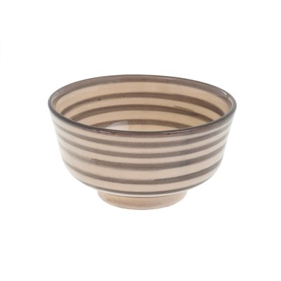 Indaba Moroccan Striped Bowl Light - Grey
