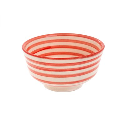 Indaba Moroccan Striped Bowl - Light Pink