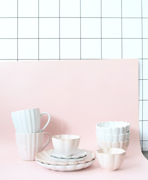 Indaba Amelia Plate - White S