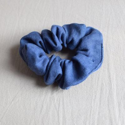 BB Linen scrunchies - Bleu cobalt