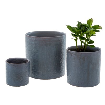 Indaba Cache-pot bleu
