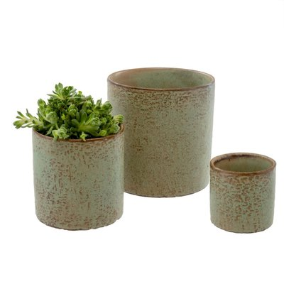 Indaba Green cover pot