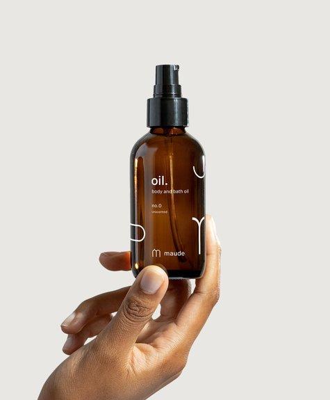 Maude Organic Body and Bath oil  4oz.