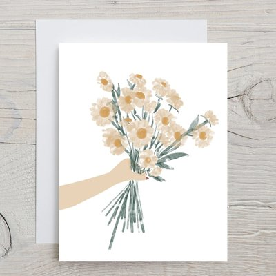 Glenda Cast Greeting Card - Yellow flowers for you