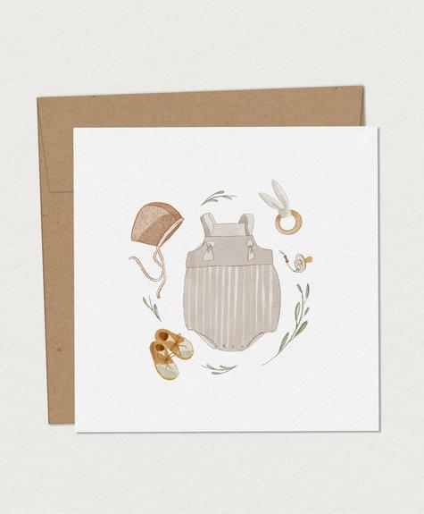 Mimosa Greeting Card Mim - Birth Kit