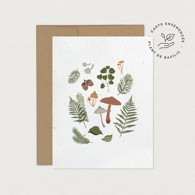 Mimosa Greeting Card Mim - Forest Harvest (seeded)