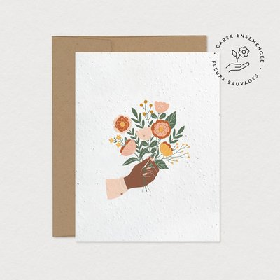 Mimosa Greeting Card Mim - Bouquet (seeded)