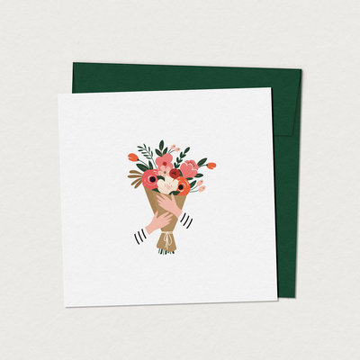 Mimosa Greeting Card Mim - Antoinette Bouquet