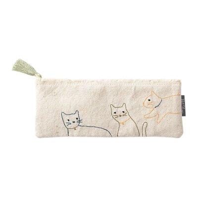 Fringe Pochette chats  broderie - S