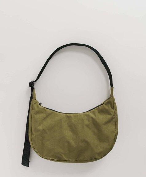 Baggu Medium Nylon Crescent Bag - Moss