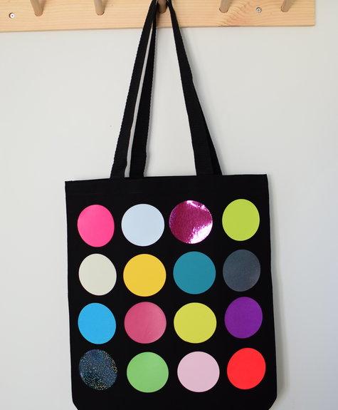 OKAYOK Totebag polka dots - Black