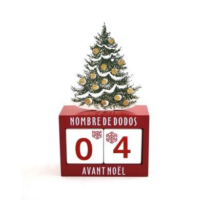 Nostalgia Christmas Tree Calendar (French)