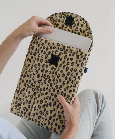 """Baggu Laptop Sleeve 13"""" Baggu -  Leopard"""
