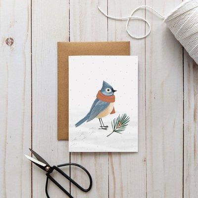 Joannie Houle Greeting card - Winter Bird