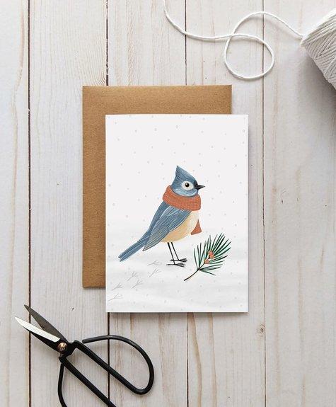 Joannie Houle Greeting card Joannie Houle- Winter Bird