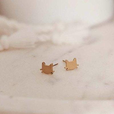 Mimi - Auguste Earrings -  Cats gold