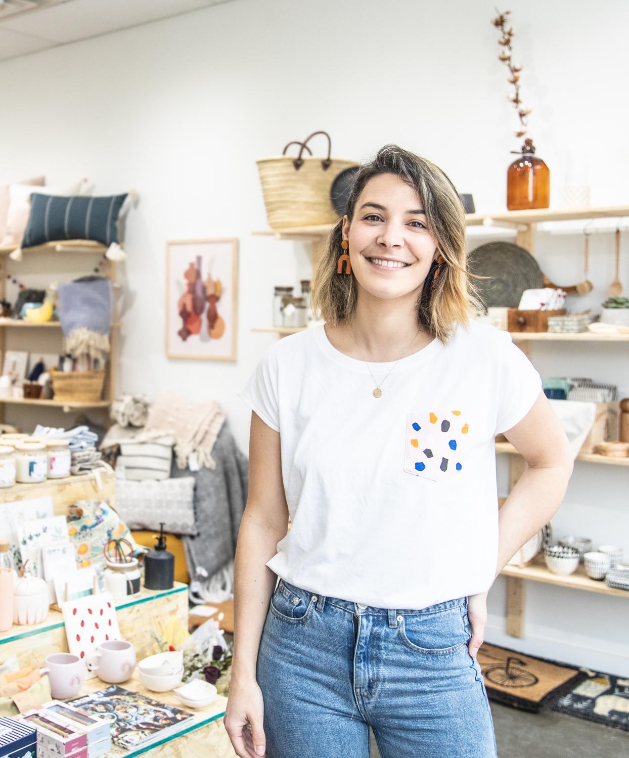 Marie Letard dans la boutique Bouche Bée