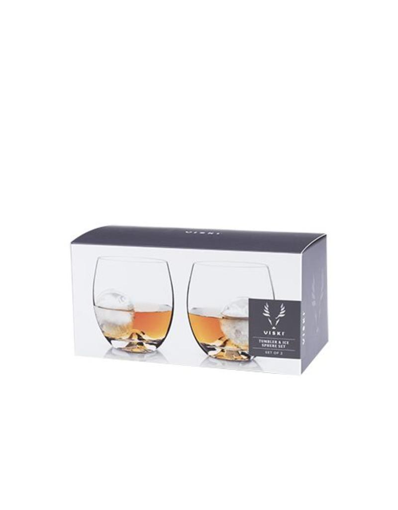 Viski Ice Mold/Tumbler Set of 2